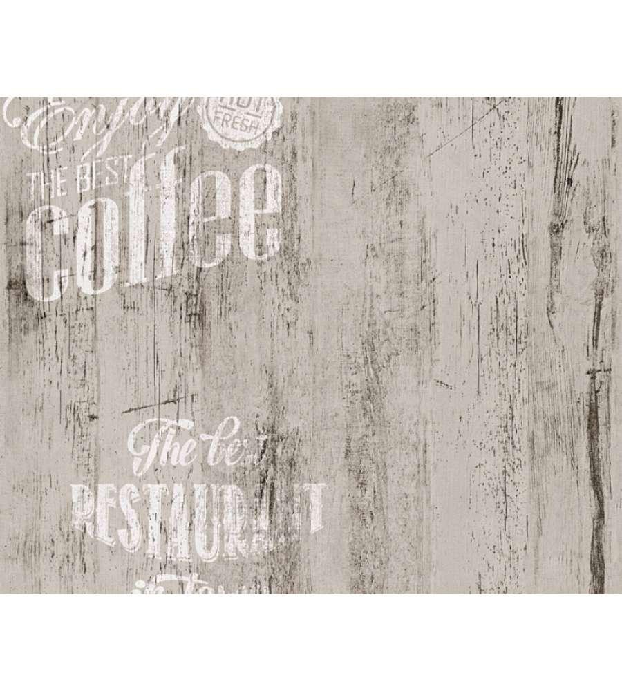 Carta da parati parato carta duplex legno coffee grigio for Carta da parati in offerta