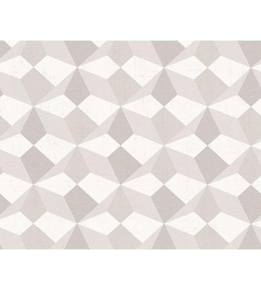 Carta da parati parato tnt rombi 3d argento for Carta da parati online shop
