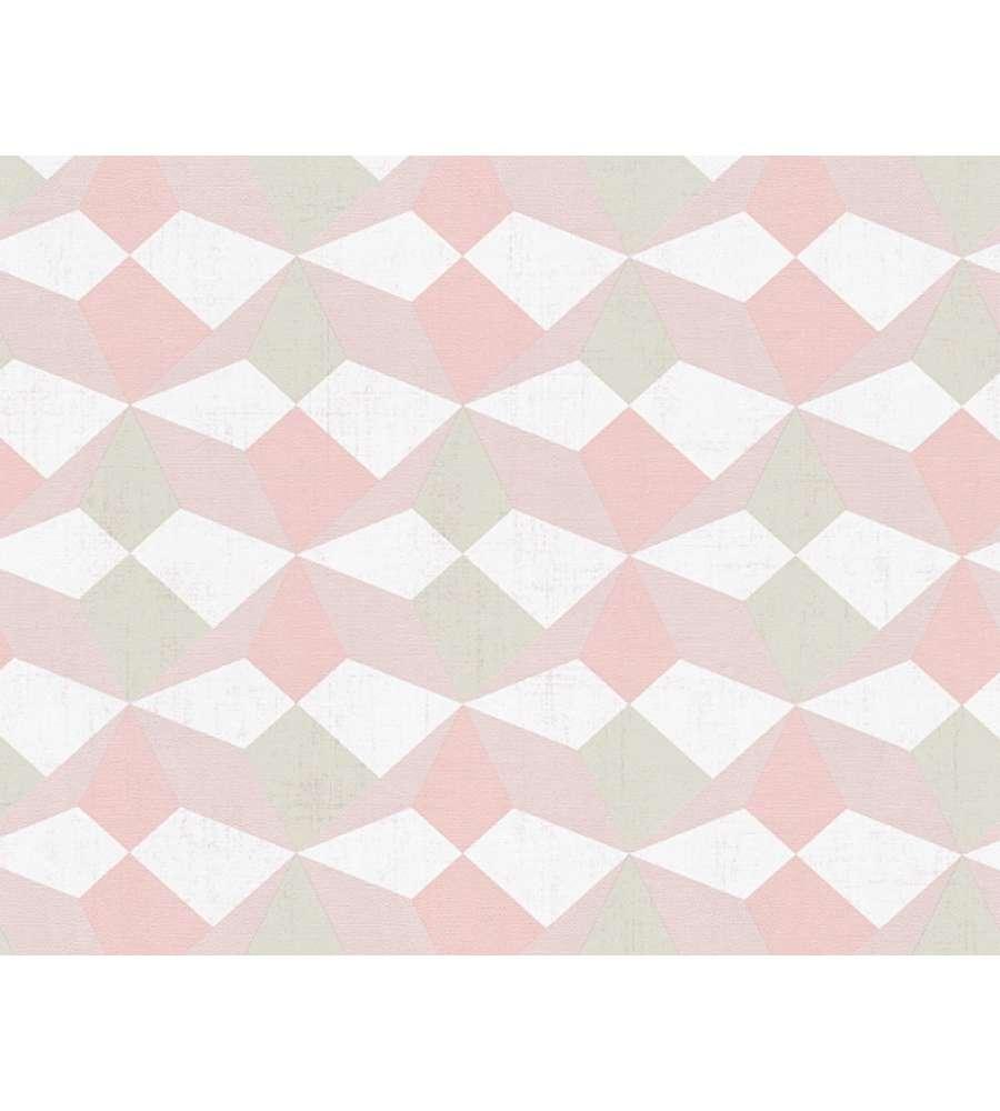 Carta da parati parato tnt rombi 3d rosa for Carta da parati online shop
