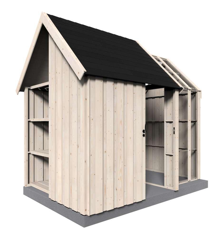 Casetta in legno da giardino decor et jardin vertigo serre for Giardino rettangolare