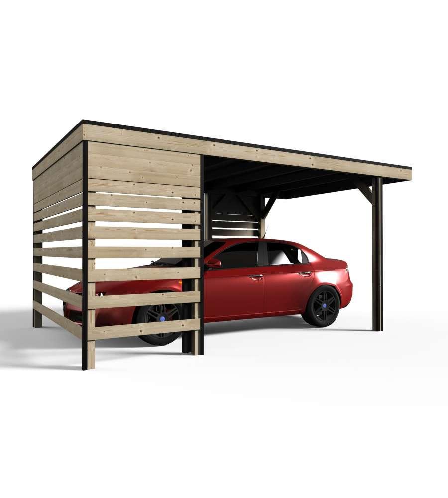 Garage in legno da giardino decor et jardin carport 3 4 - Garage da giardino ...