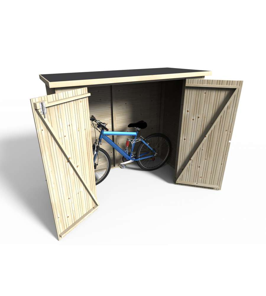 Garage in legno da giardino decor et jardin bike box rettangolare 11750 000 182x88 cm - Box bici da giardino ...