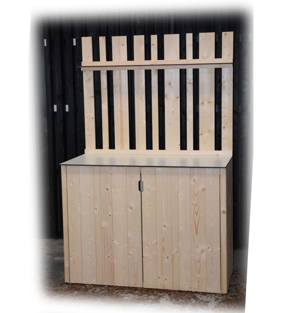 Armadio in legno da giardino decor et jardin armoire basse for Armoire basse jardin