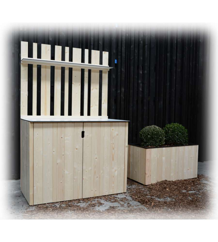 Armadio in legno da giardino decor et jardin armoire basse for Armadio da giardino in legno