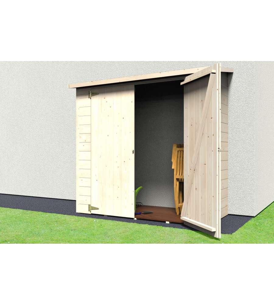 Armadio in legno albecour rettangolare 170x81 2 cm - Armadio giardino legno ...