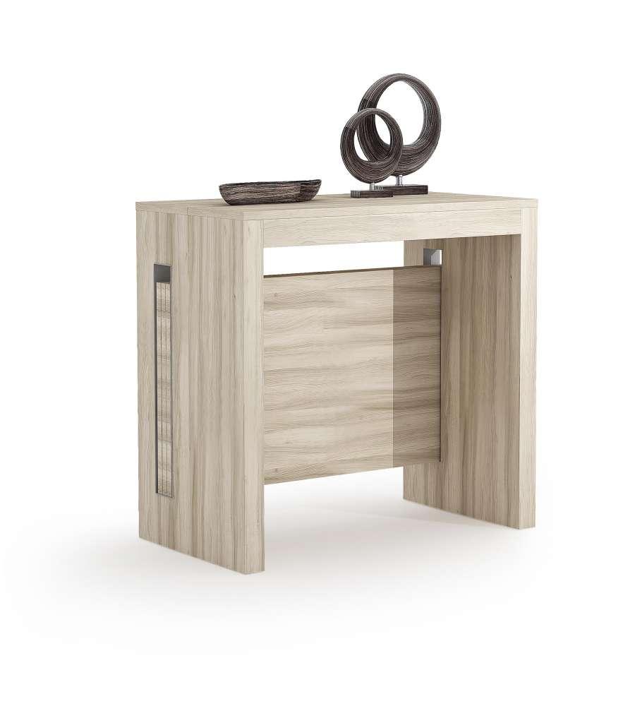 Tavolo consolle trasformabile allungabile da 44 a 186 cm - Tavolo allungabile a consolle ...