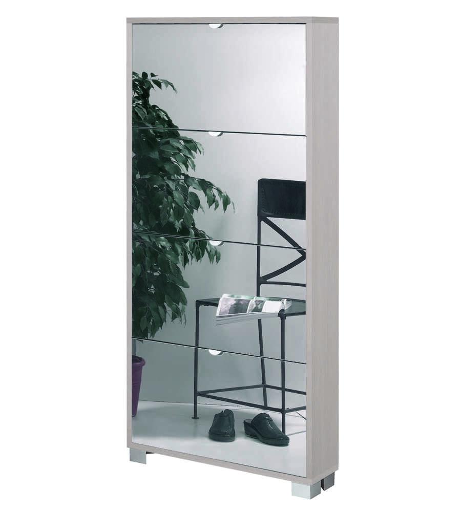 Scarpiera 4 ante specchio profondita 39 18 cm pino con ante specchio fume 39 x x cm - Scarpiera specchio ikea ...
