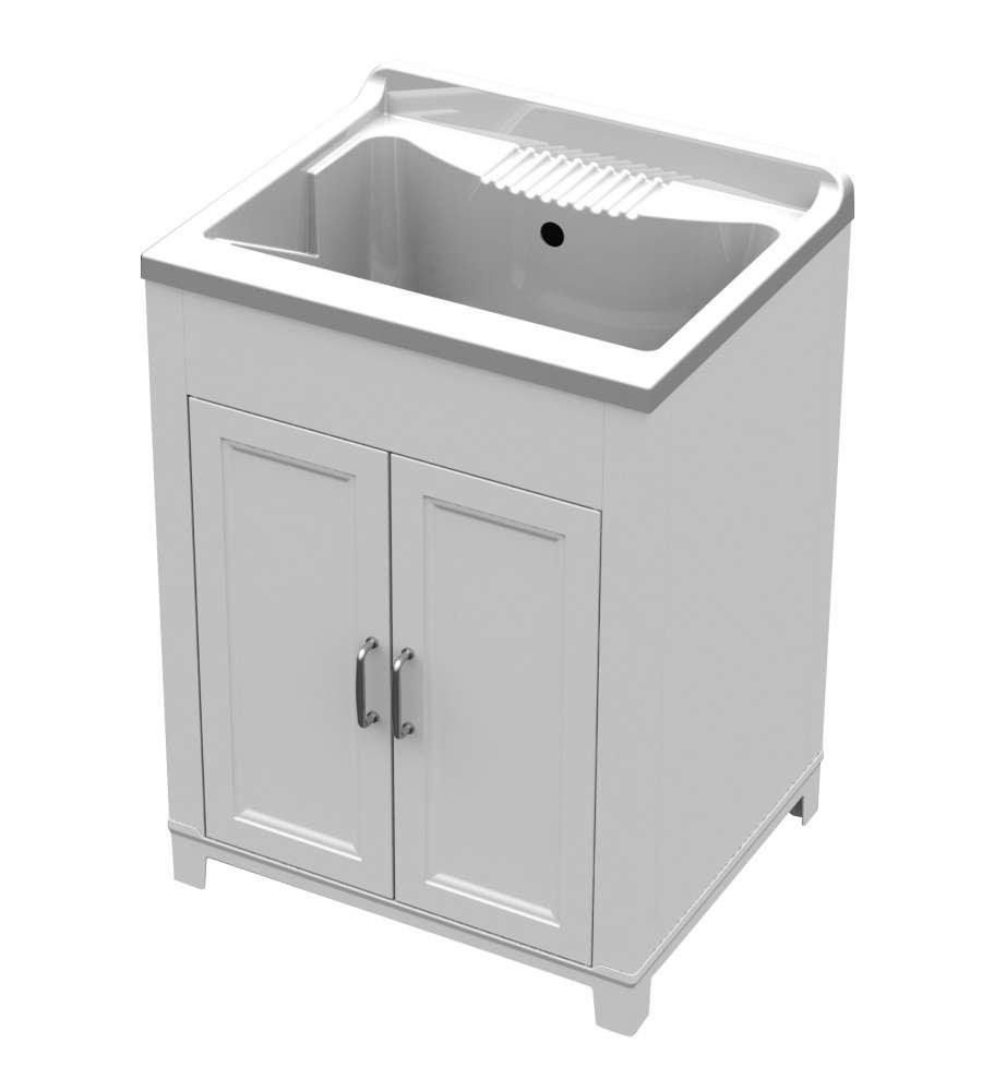 Lavatoio in resina 60x50 - Pilas de lavar con mueble ...
