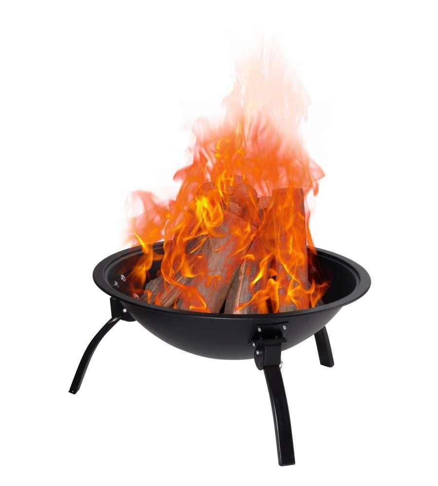 Braciere da esterno in acciaio con griglia a legna o carbonella - Braciere da esterno ...