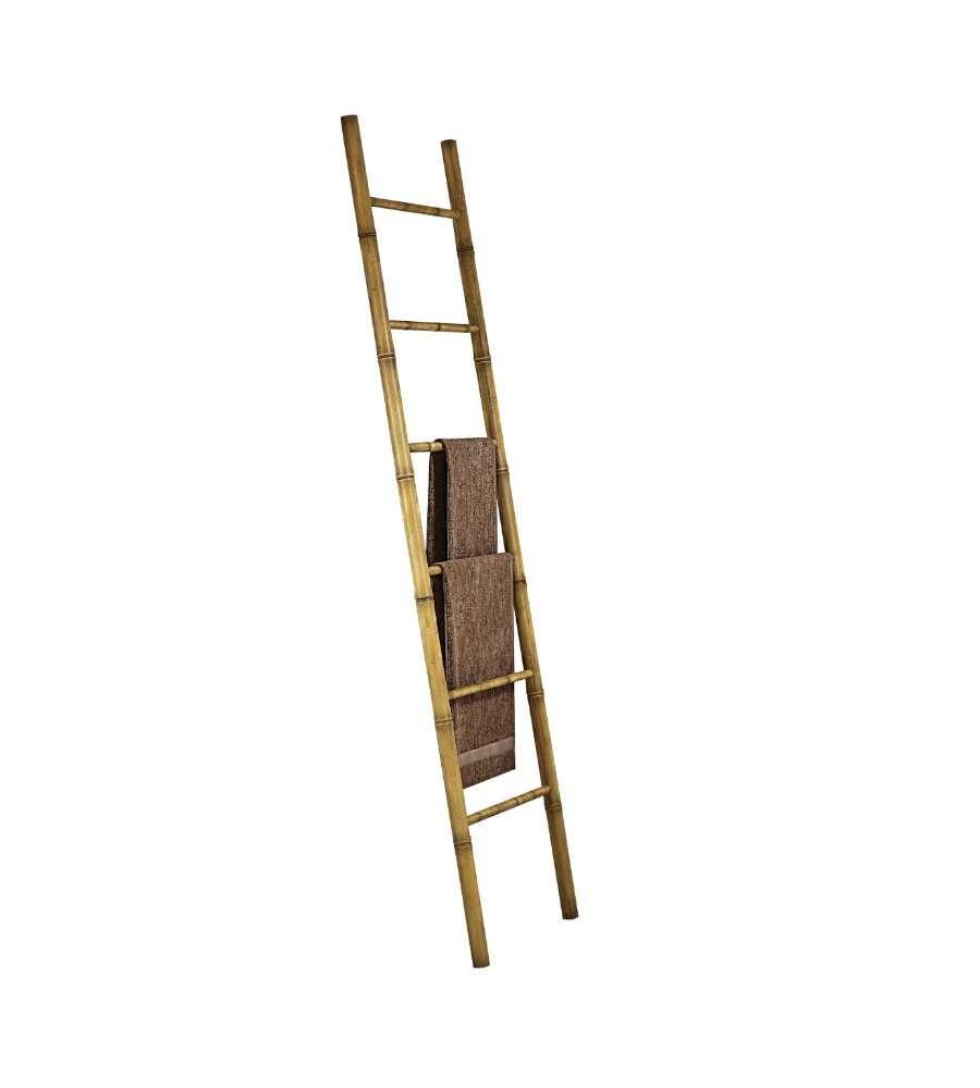 Scaletta in bambu 39 porta asciugamani con 6 pioli - Scala arredo bagno ...