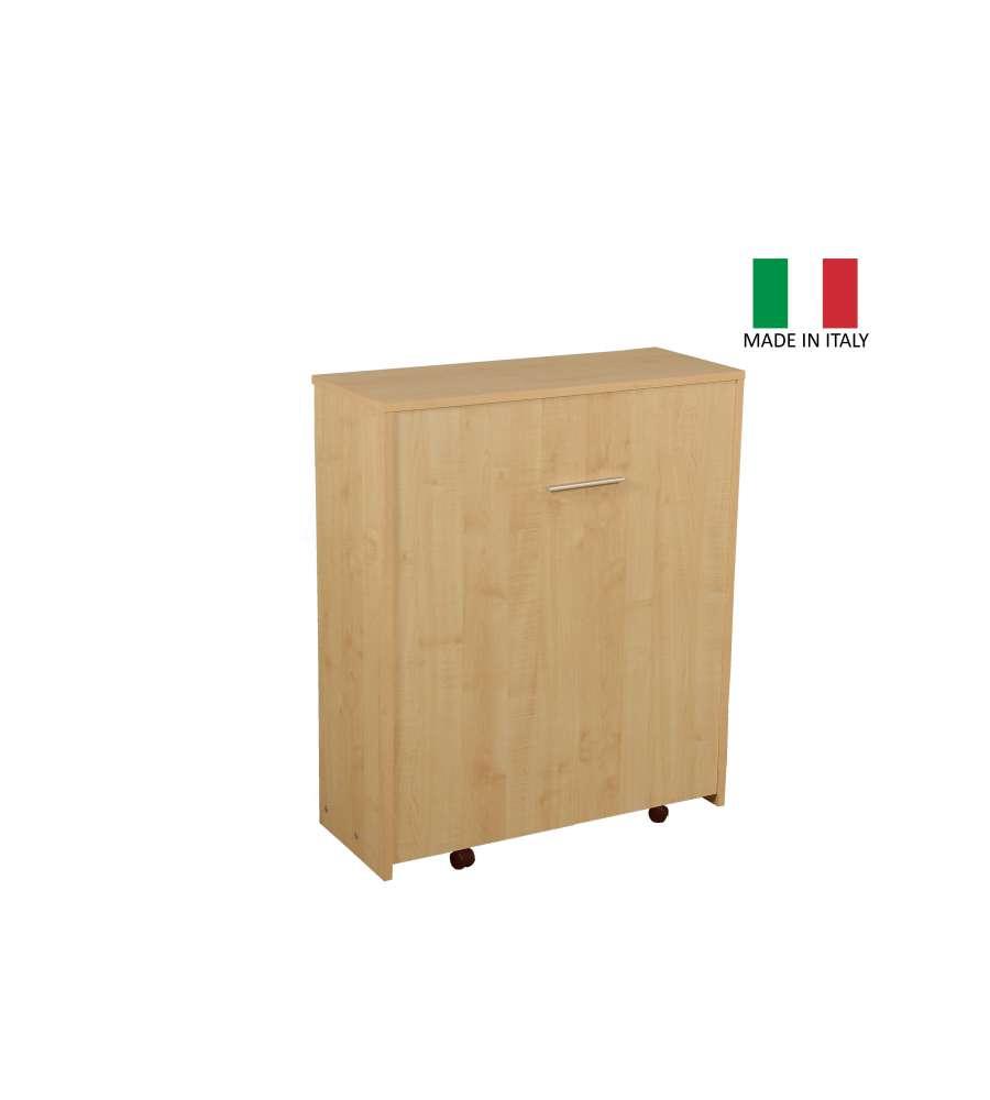 Mobile Letto A Parete.Offerta Mobile Letto Estraibile A Scomparsa Con Rete E Materasso 80 X 190 Made In Italy