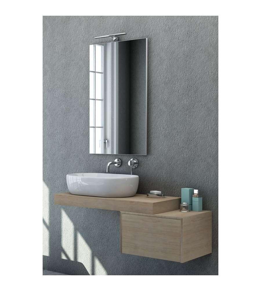 Specchio filo lucido con applique a led - Applique bagno specchio ...