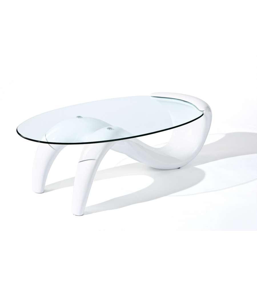 Tavolo laccato bianco lucido e vetro temperato for Tavolo bianco lucido