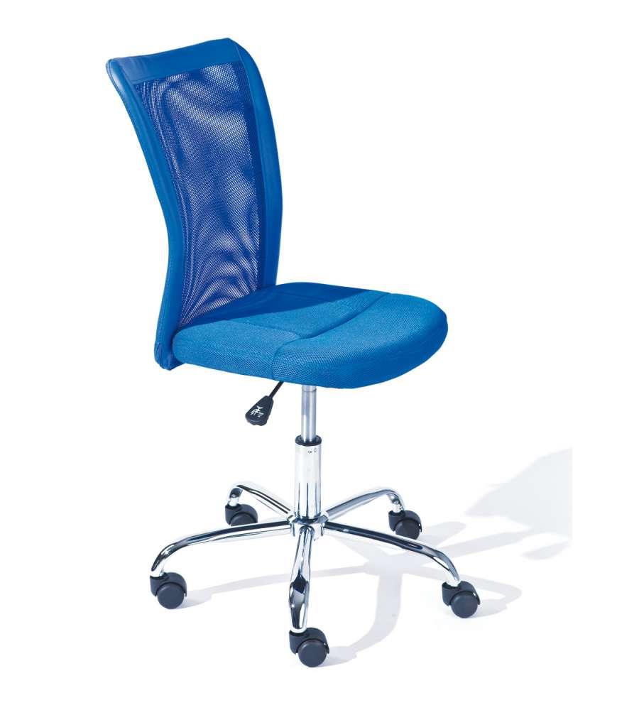 Sedia Ufficio Con Ruote - Blu.