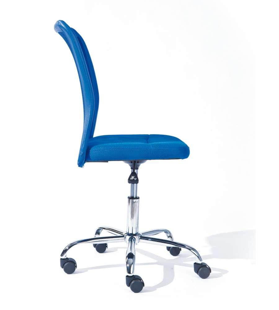 Sedia ufficio con ruote blu for Sedia ufficio ruote
