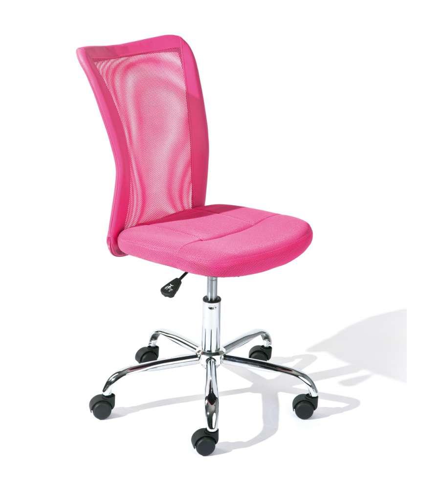Sedia ufficio con ruote fuxia - Sedia con ruote ...