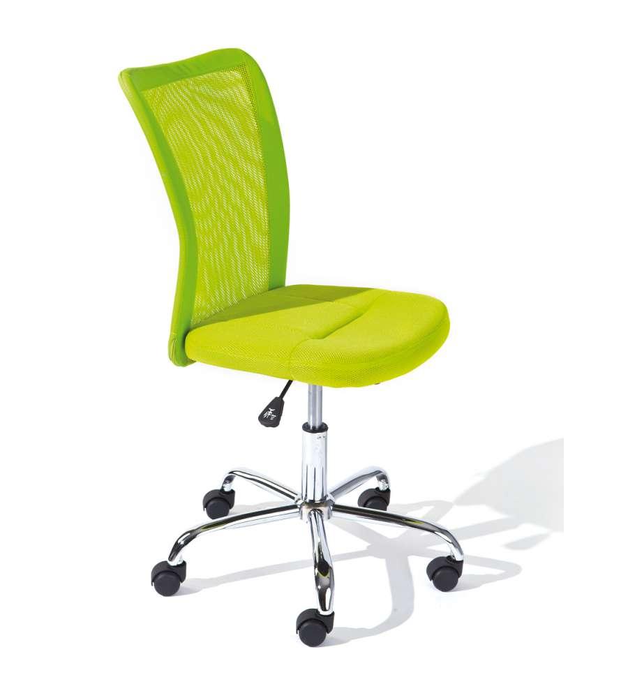 Sedia ufficio con ruote verde for Sedia ufficio ruote
