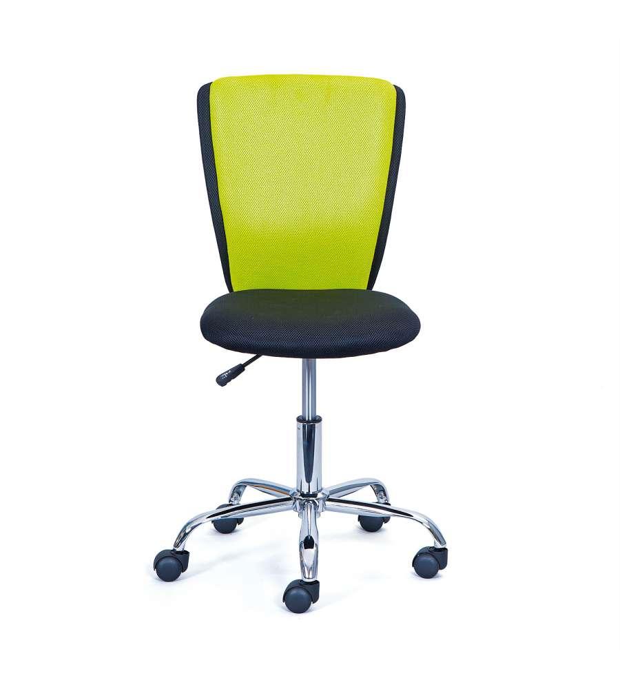 Sedie Da Ufficio Verde.Sedia Ufficio Metallo Poliestere Colore Verde E Nero