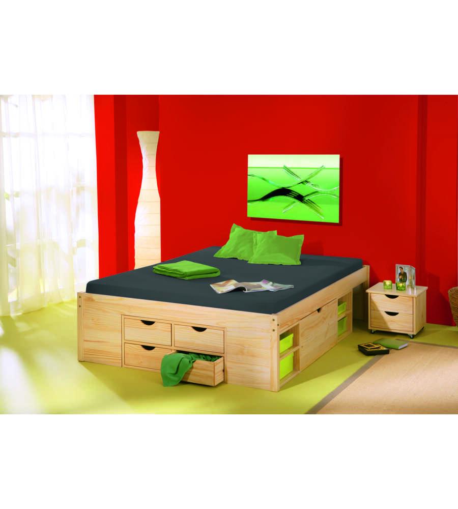 Letto con contenitori e comodino - Contenitori camera da letto ...