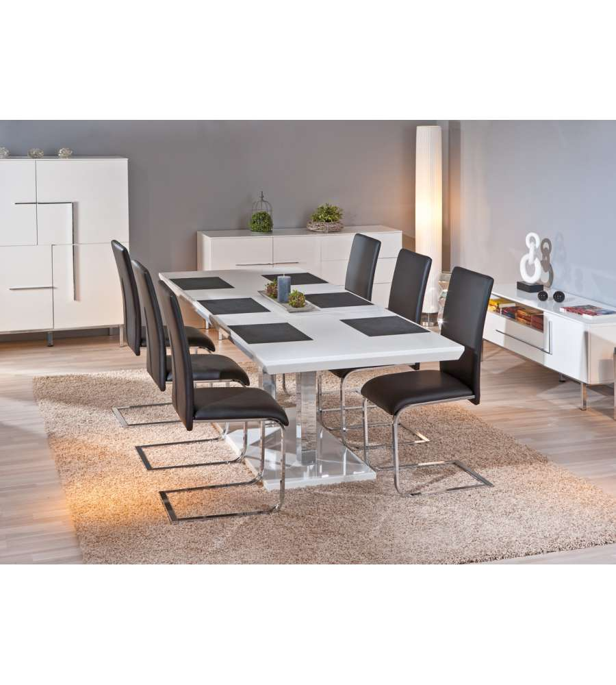Tavolo allungabile laccato bianco lucido - Tavolo bianco laccato lucido ...