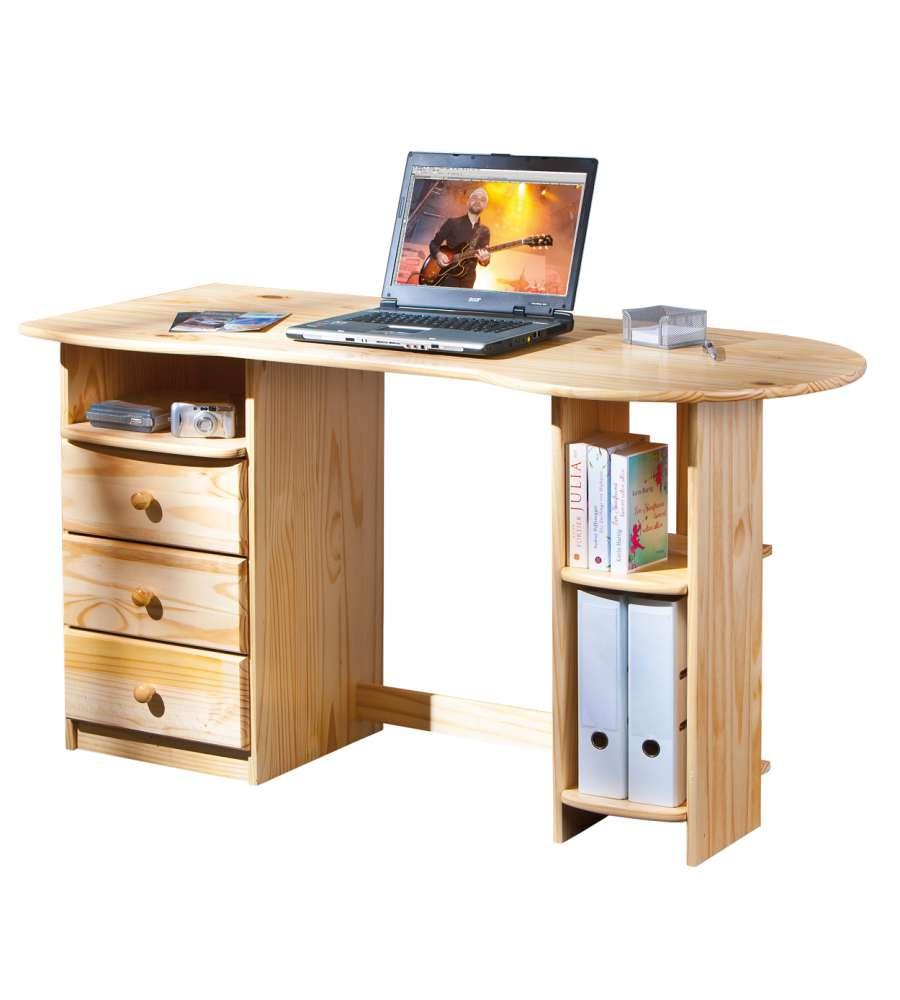 Scrivania ufficio pino massello finitura naturale - Mobili in pino naturale ...