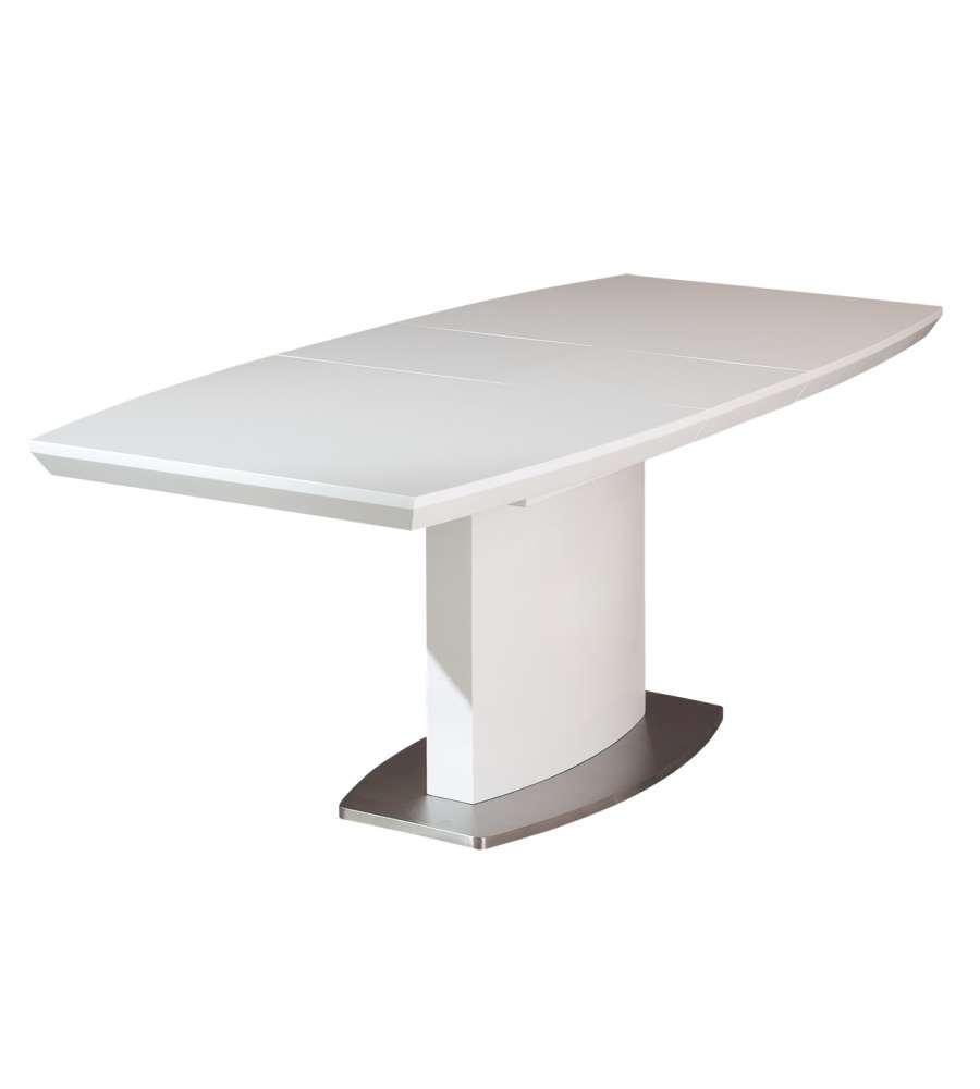Tavolo alluminio laccato bianco lucido e metallo cromato - Tavolo bianco lucido ...