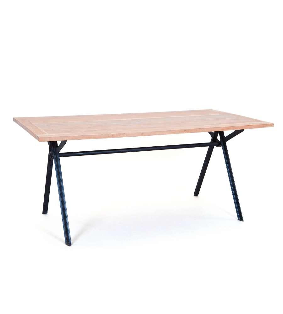 Tavolo in legno di acacia e metallo prodotto realizzato - Tavolo legno e metallo ...