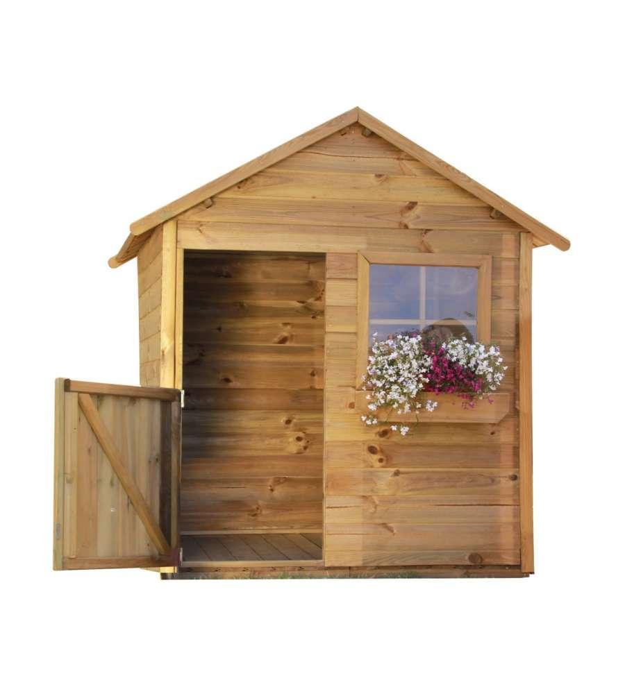 Casetta in legno per bambino mateusz 126x112x158h cm - Casetta in legno da giardino bianca ...