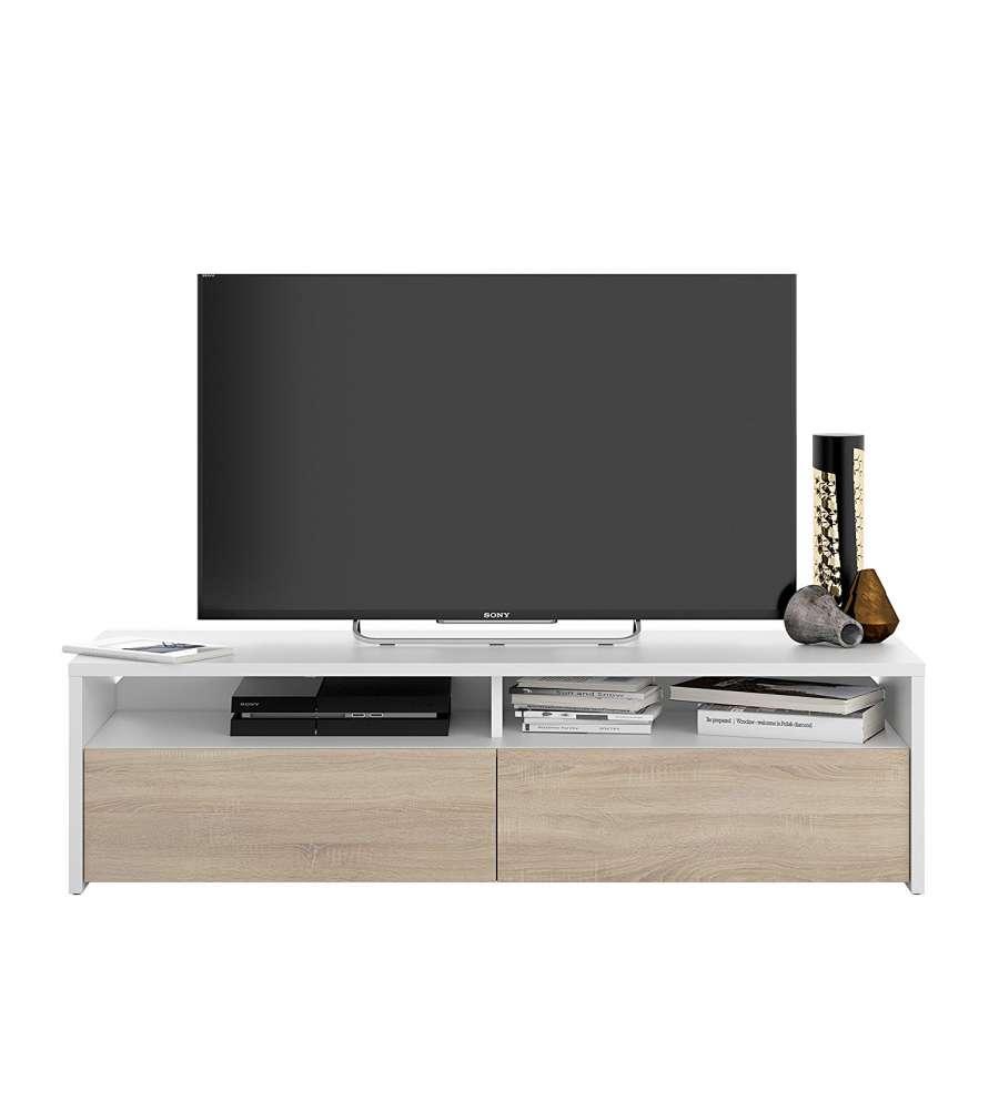 Mobile soggiorno porta tv kioto bianco rovere for Mobile soggiorno bianco