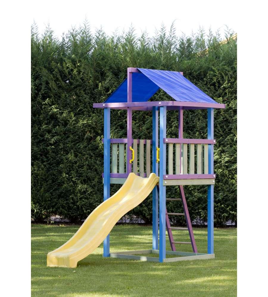 Alce gioco da esterno in legno per bambini alfiere con for Cancelletto bambini da esterno
