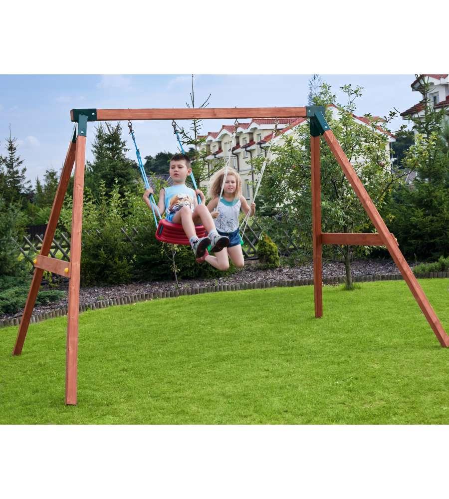 Giochi Per Bambini In Giardino alce - gioco da esterno in legno per bambini altalena fly