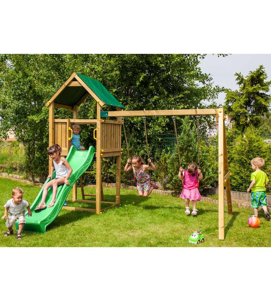 Alce gioco da esterno in legno per bambini funny 2 - Altalene bambini per esterno ...