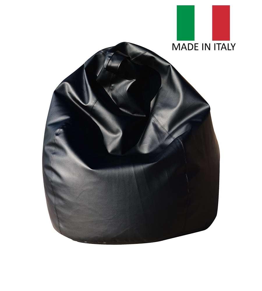 Pouf Poltrona Sacco Lollo Nero - Made In Italy