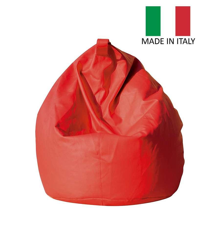 Pouf Poltrona Sacco Lollo Rosso - Made In Italy