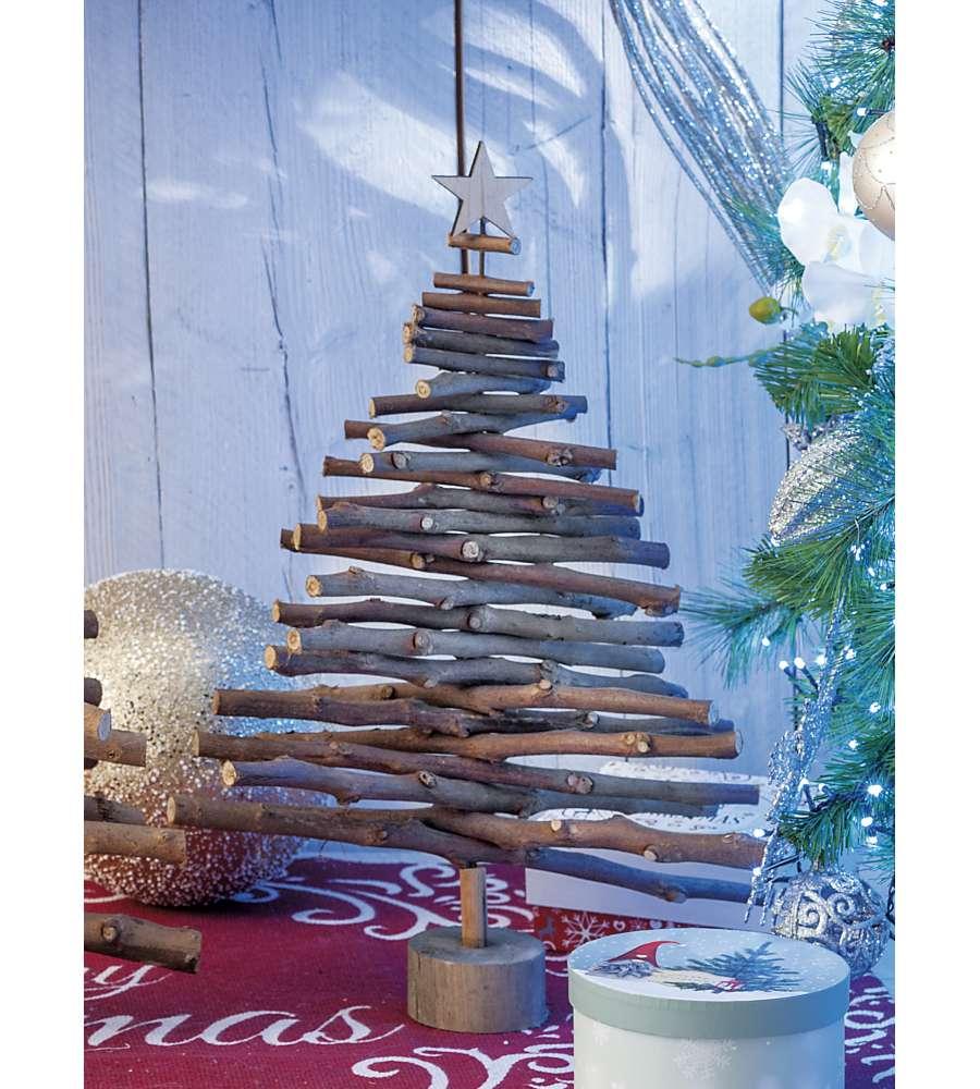 Albero Di Natale Diametro 60.Albero Di Natale In Legno Altezza 60 5 Cm