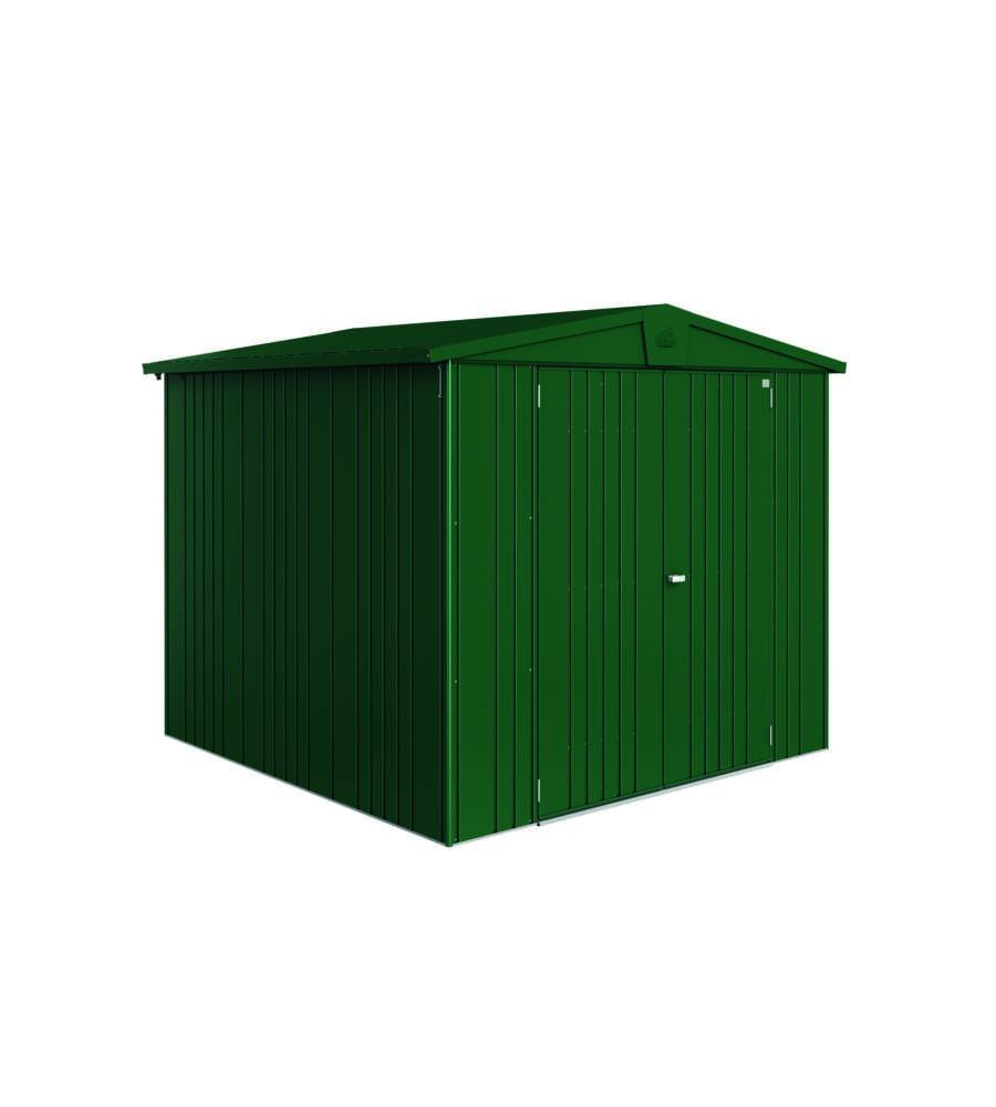 biohort casetta europa 4 in acciaio zincato verde scuro 244 x 228 x 203h. Black Bedroom Furniture Sets. Home Design Ideas