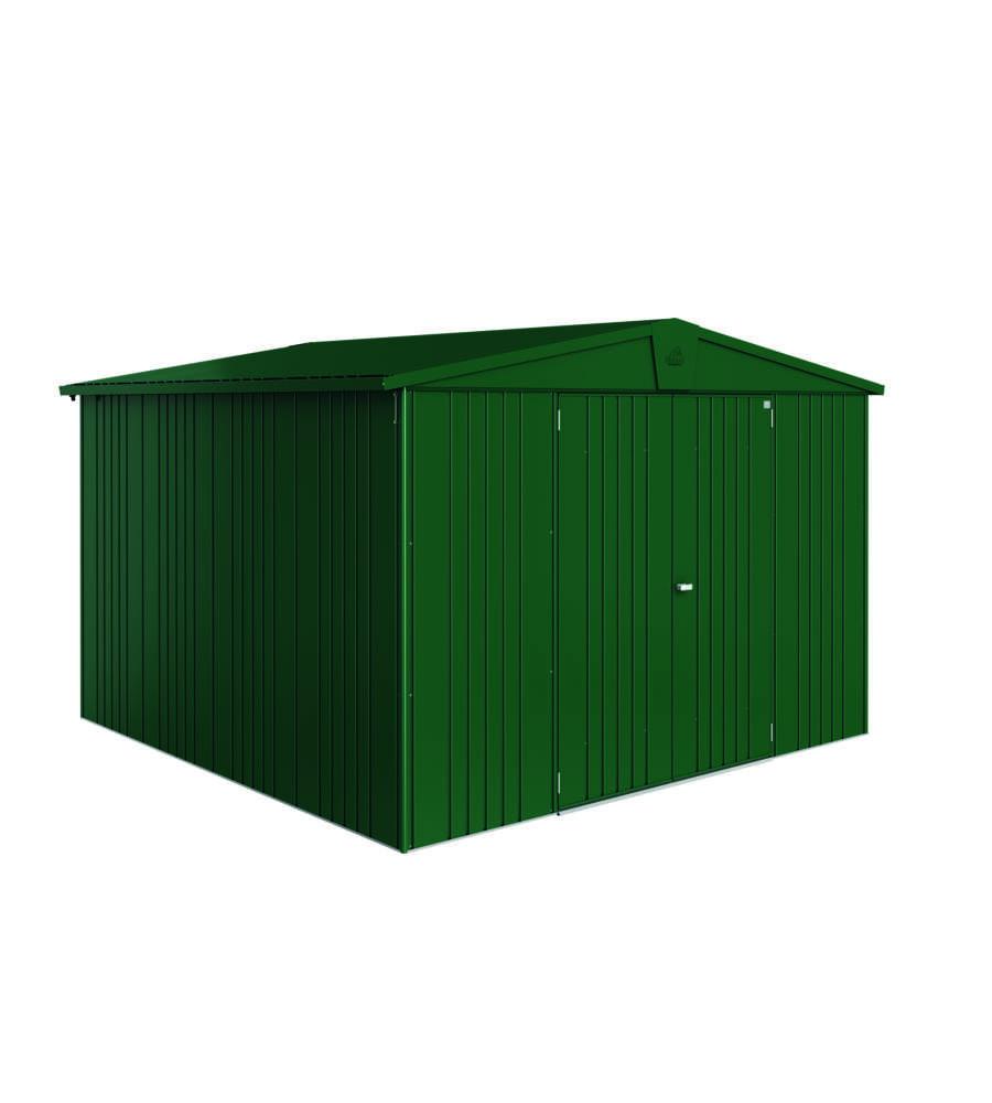 biohort casetta europa 7 in acciaio zincato verde scuro 316 x 300 x 209h. Black Bedroom Furniture Sets. Home Design Ideas