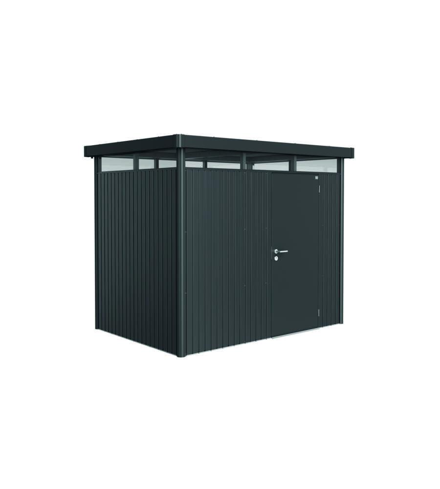 biohort casetta highline h2 in acciaio zincato grigio scuro con porta standard 275 x 195 x 222h. Black Bedroom Furniture Sets. Home Design Ideas