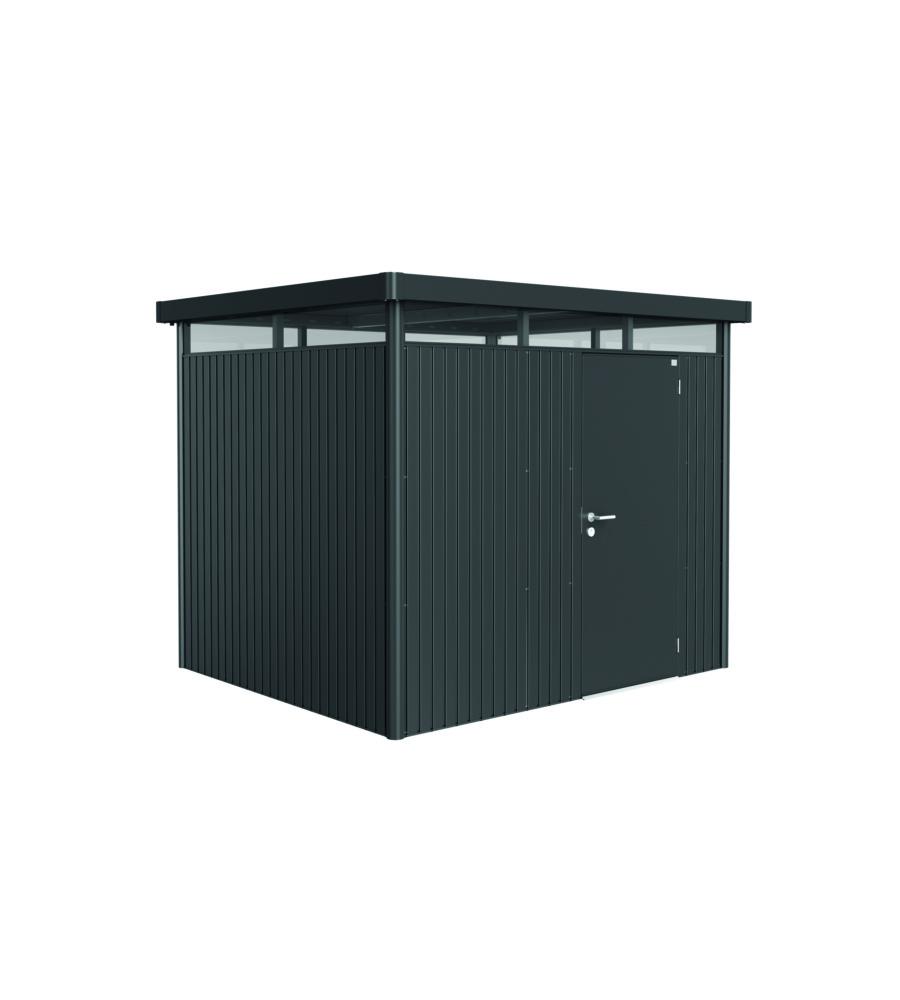 biohort casetta highline h3 in acciaio zincato grigio scuro con porta standard 275 x 235 x 222h. Black Bedroom Furniture Sets. Home Design Ideas