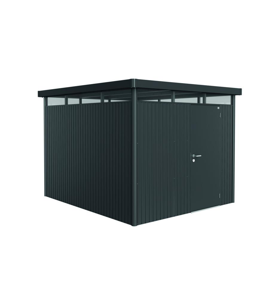 biohort casetta highline h5 in acciaio zincato grigio scuro con porta standard 275 x 315 x 222h. Black Bedroom Furniture Sets. Home Design Ideas