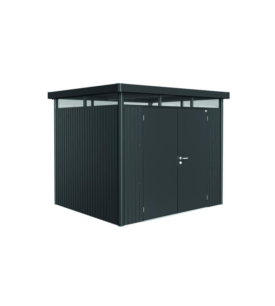 biohort casetta highline h3 in acciaio zincato grigio scuro con porta a due battenti 275 x 235. Black Bedroom Furniture Sets. Home Design Ideas