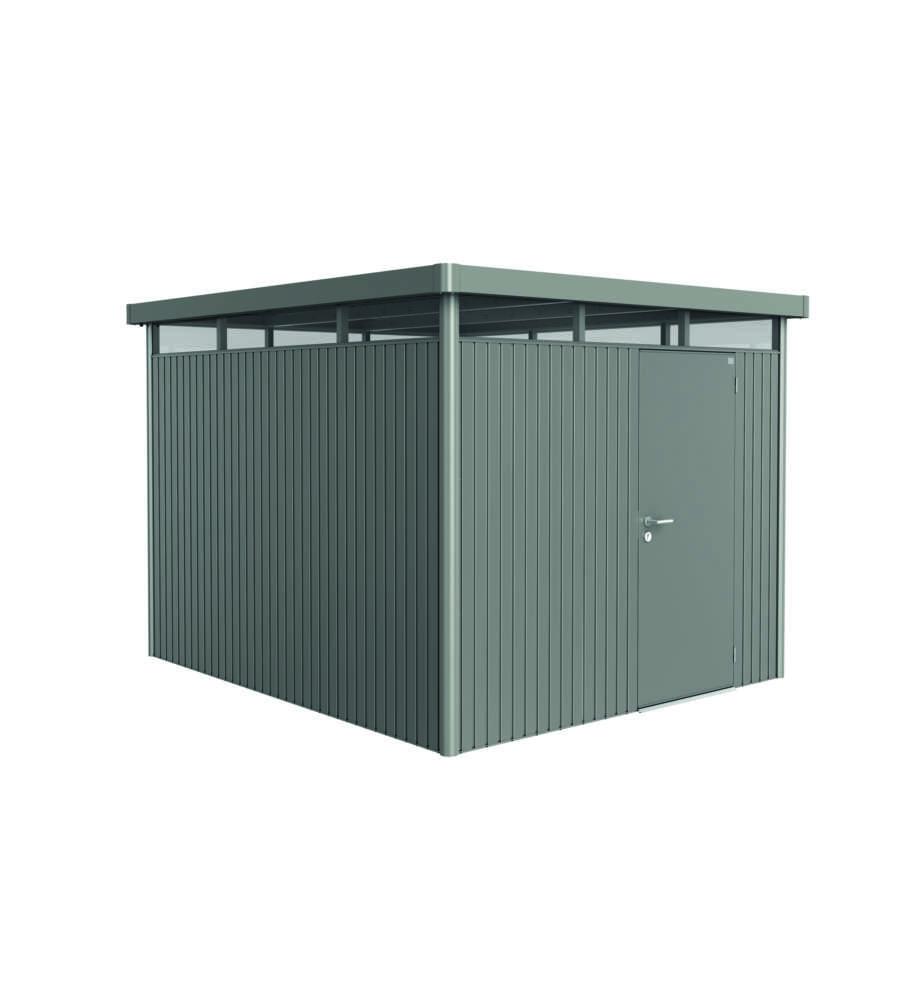 biohort casetta highline h5 in acciaio zincato grigio quarzo con porta standard 275 x 315 x 222h. Black Bedroom Furniture Sets. Home Design Ideas