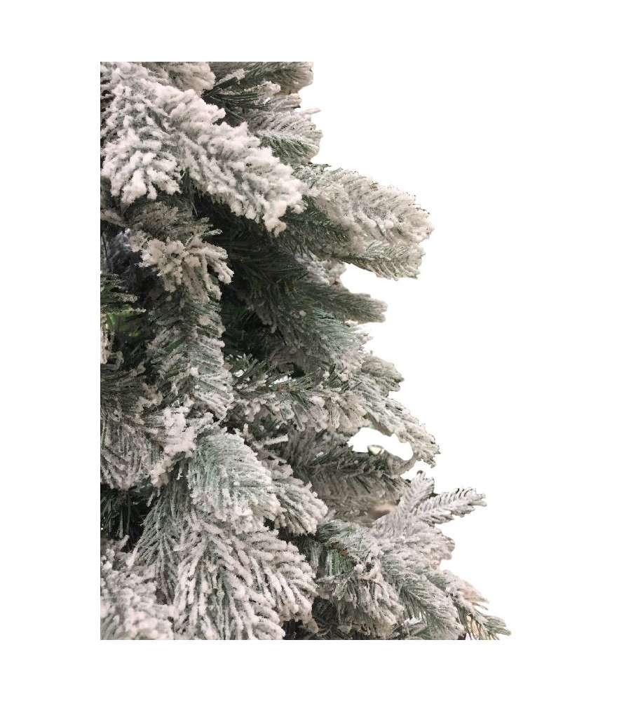 Albero Di Natale 150 Cm.Albero Di Natale Fiocco Neve 150 Cm Con 732 Rami Apertura Ad Ombrello