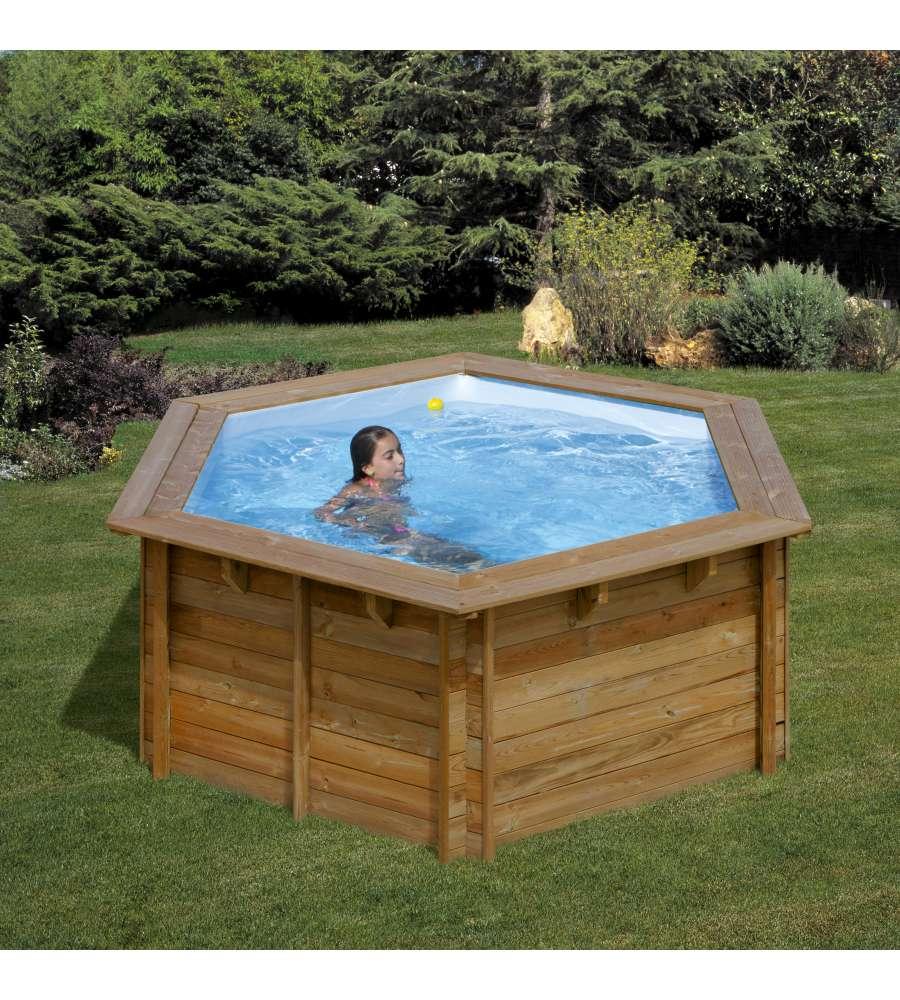 Acqua Azzurra Piscine gre - piscina tonda 'lili' in legno - 295 x 295 h105.