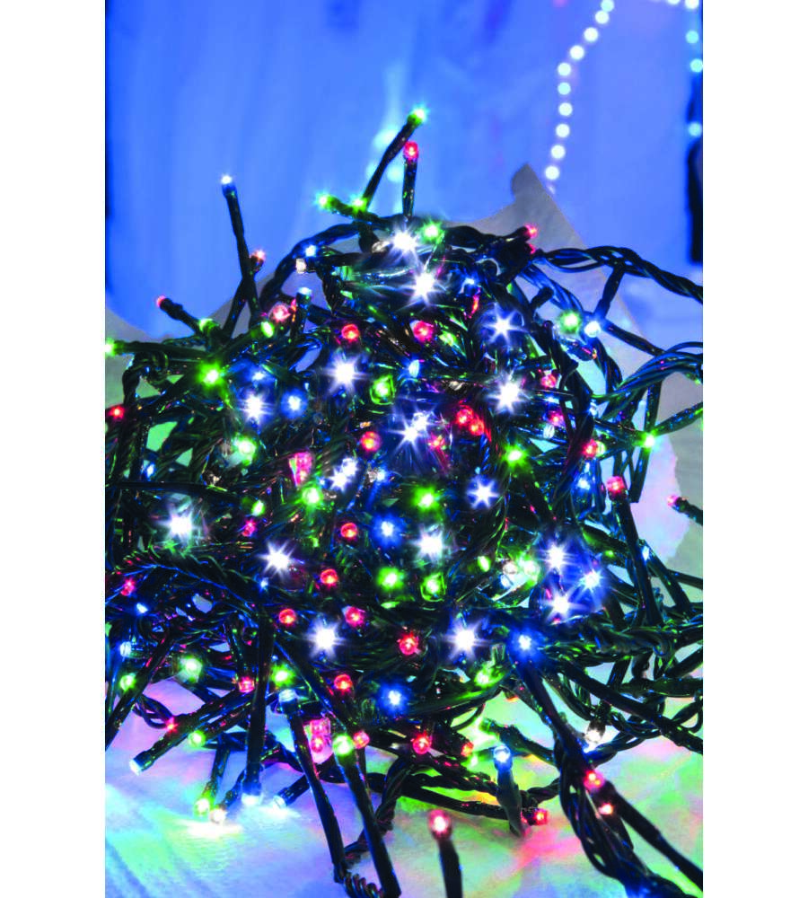 300 luci di natale linea premium al led multicolore per for Luci al led