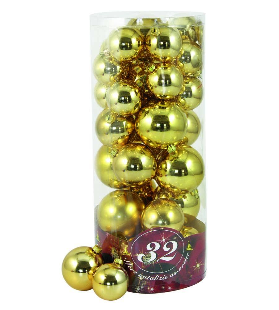 Immagini Natale Oro.32 Palle Di Natale Oro Con 3 Diametri