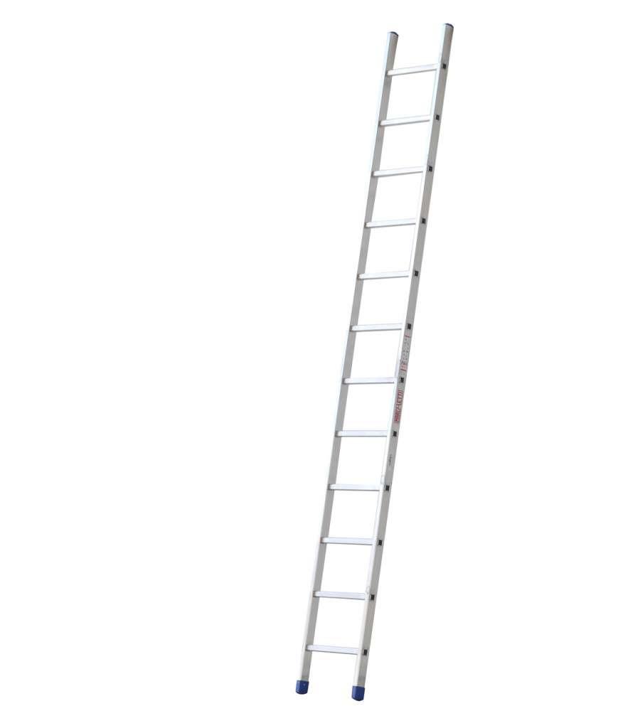Altezza Gradini Scala scala singola in alluminio uso professionale - 15 pioli - altezza massima  4,15 metri.