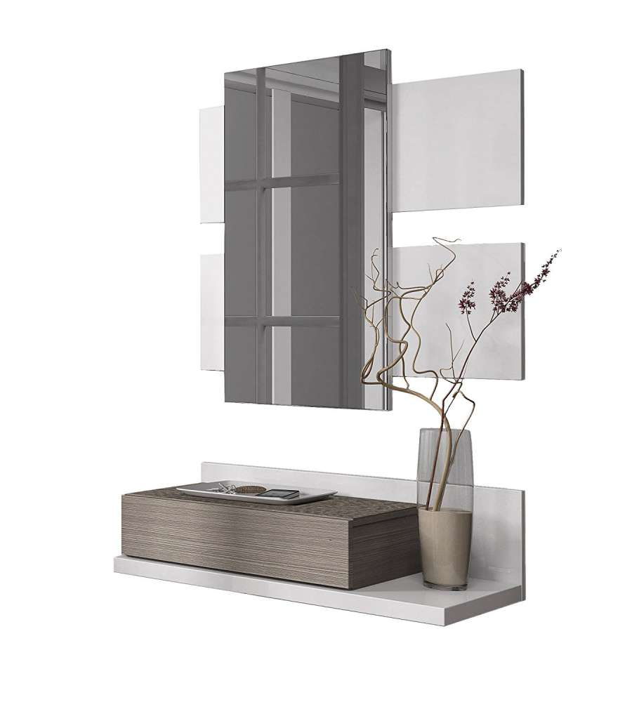 Mobile Ingresso Moderno Con Specchio E Cassetto Da Appendere ...