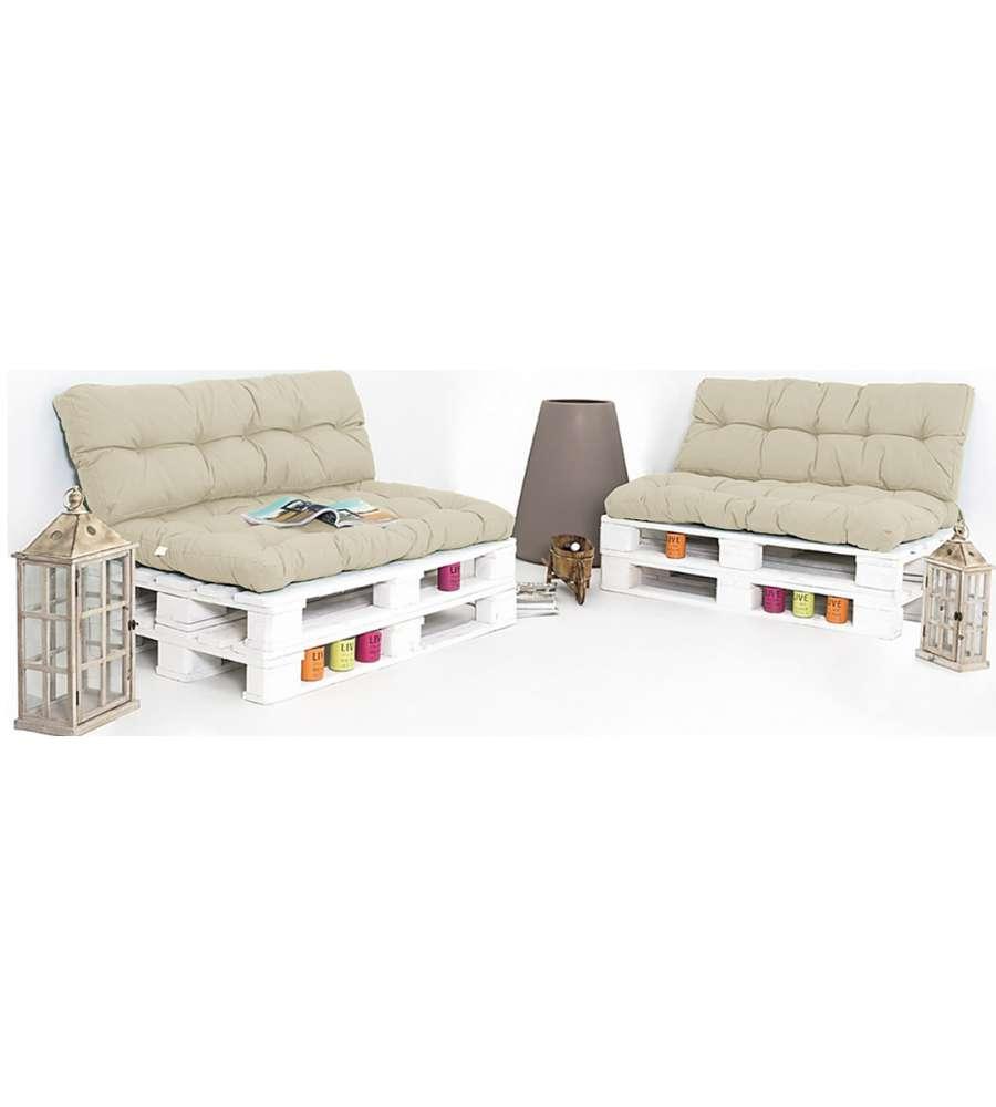 Cuscino Seduta Per Divano Pallet Colore Beige 120x80x10