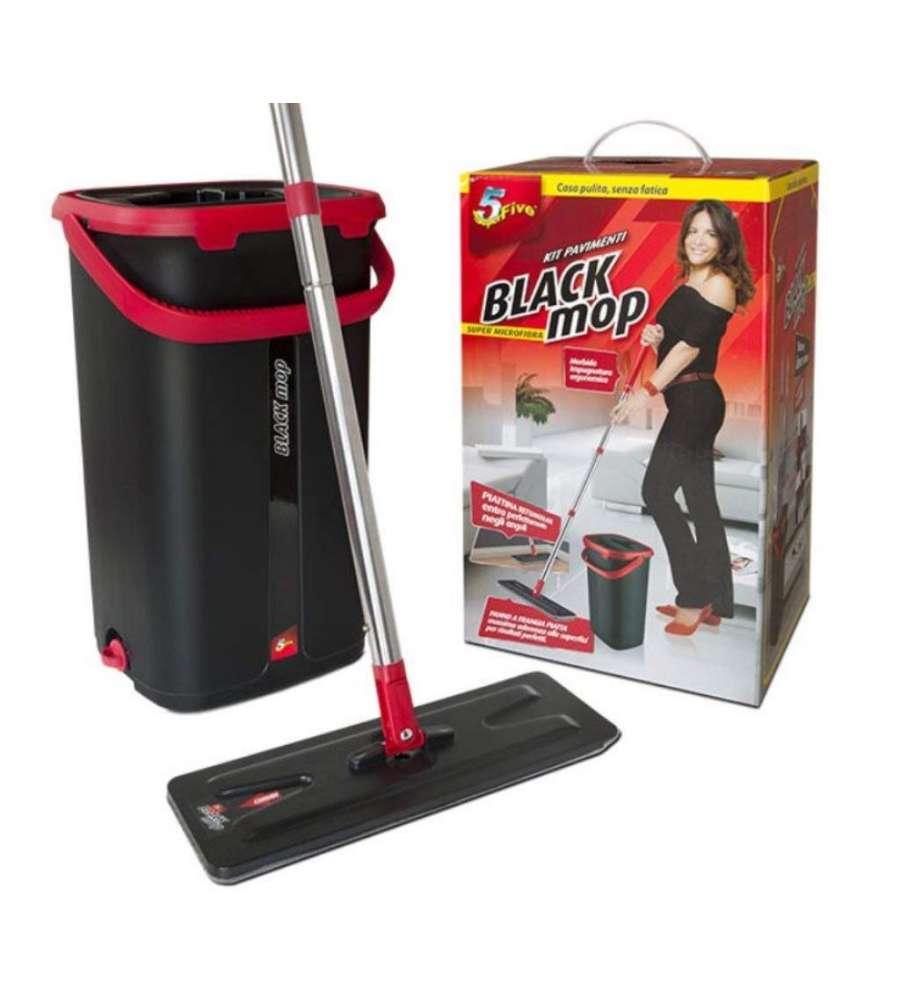 Lava E Asciuga Vetri Elettrico kit lavapavimenti black mop con sistema lava e asciuga - superfive.